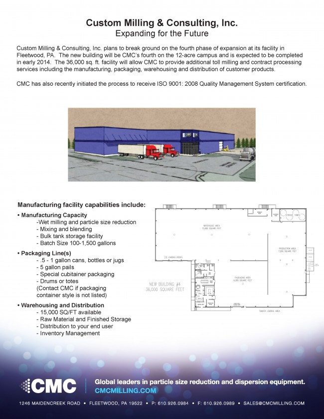 CMC expanding in 2013